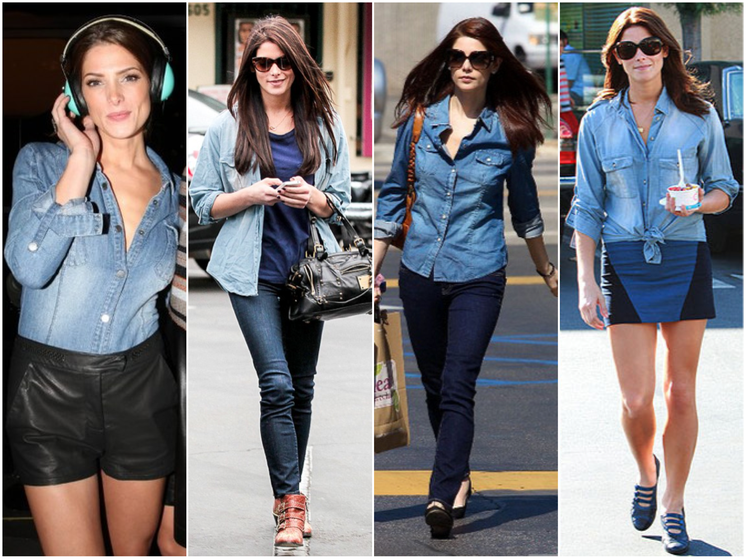 ashley greene chambray