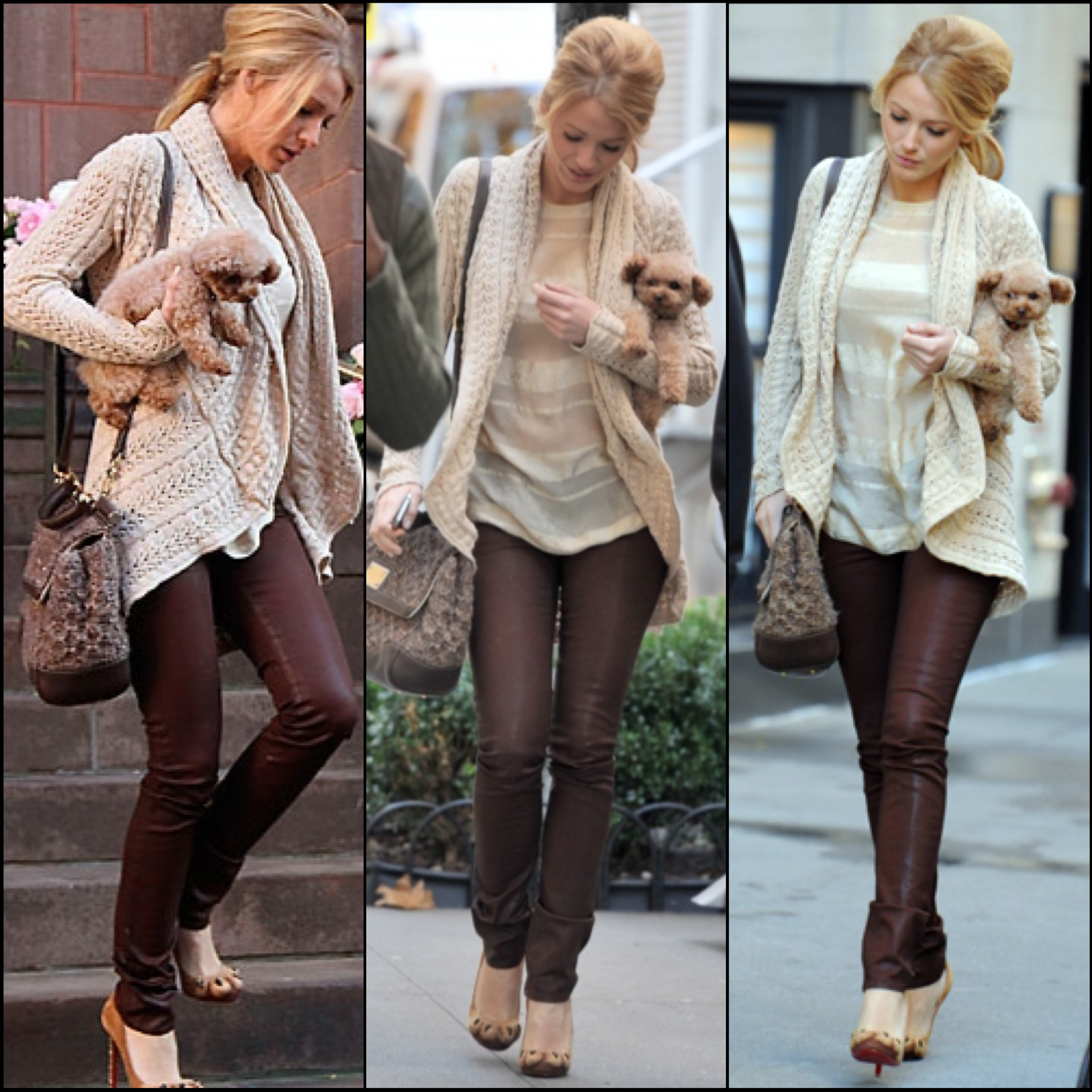 blake lively coated denim