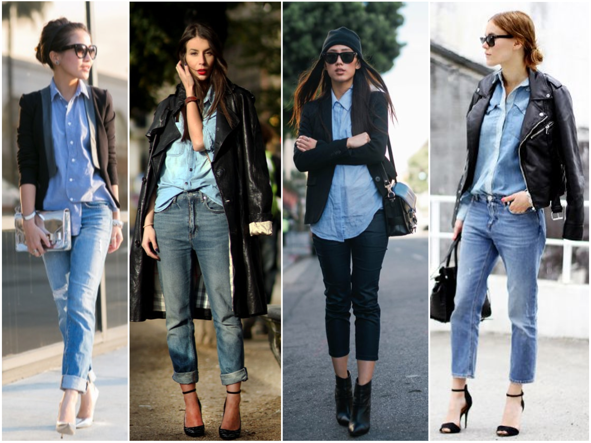 chambray with jacket