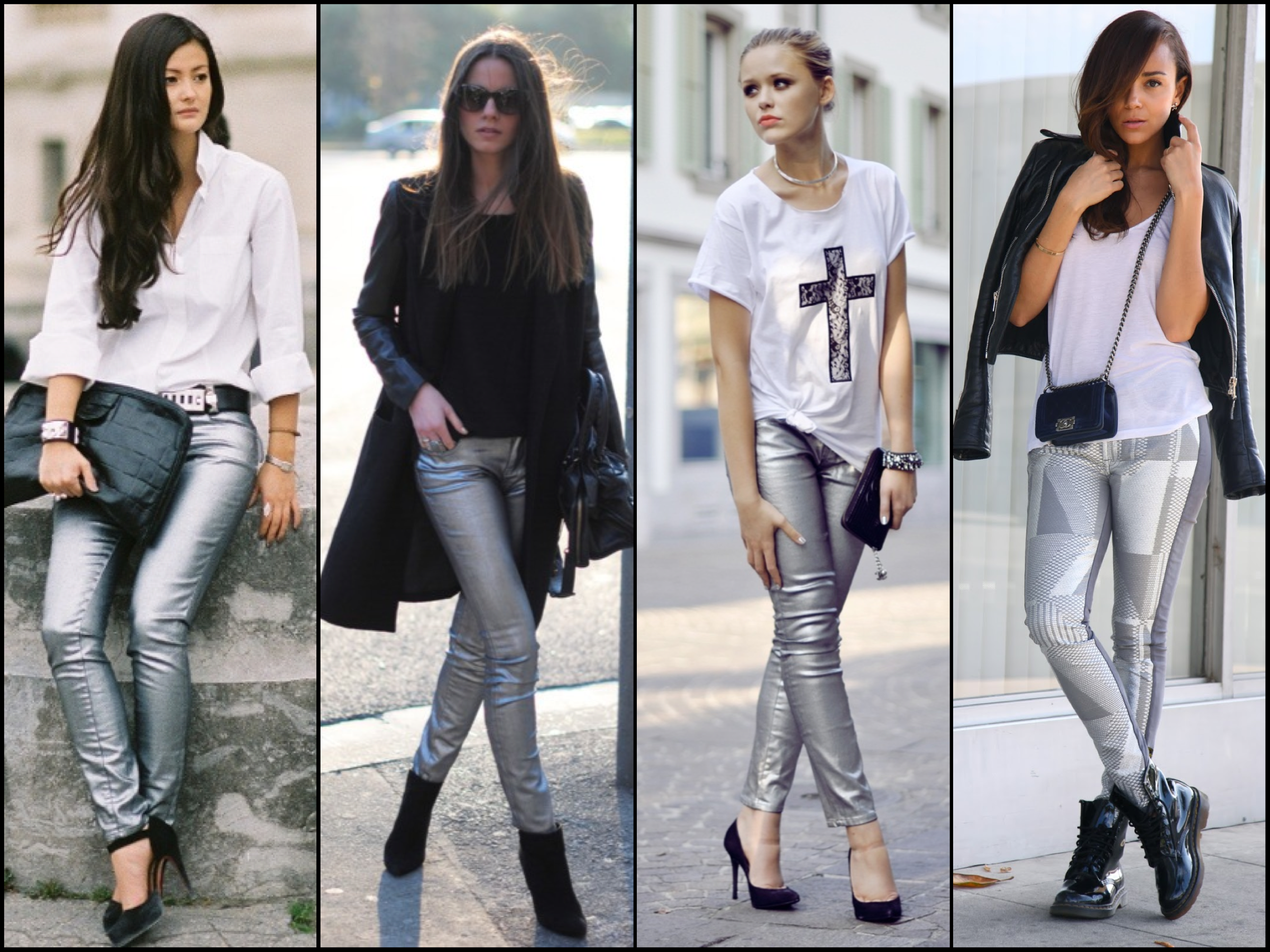 coated denim silver